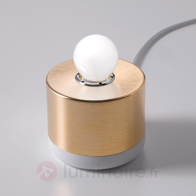 Lampe à poser Parmelia avec support doré - Lampes de chevet