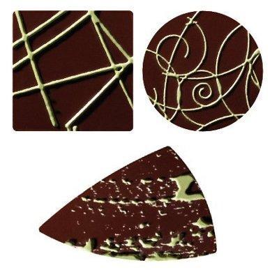 Placchette Nero/ Verde 3 Forme 480 pz - Alimentare - Cioccolato e caramelle