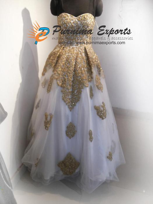 Hand Embroidered Bridal Gown Manufacturers & Exporters