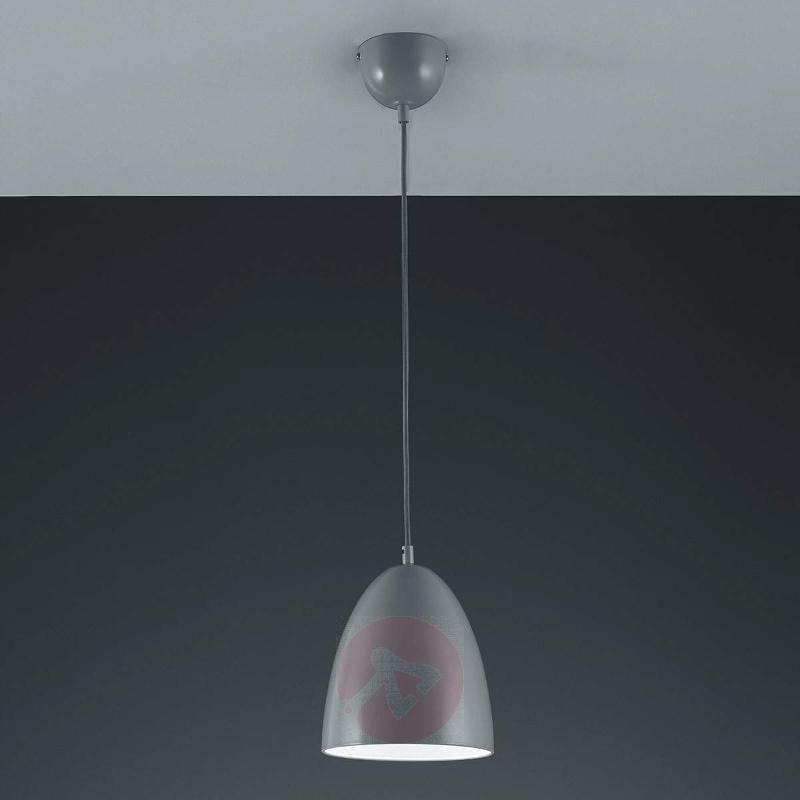 Katia LED hanging light, grey-white shade - Pendant Lighting