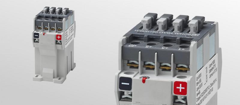 DC-Schütze 4-polig für Batteriespannungen bis 110 V - 4-polige DC-Schütze