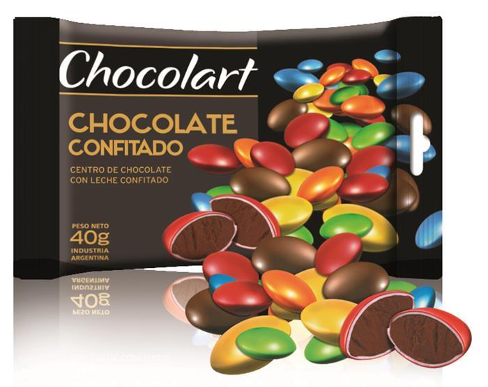 Chocolats confits multicolores