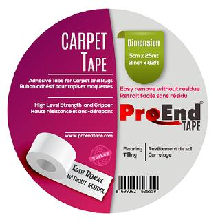 Carpet Tape, Double Sided 25 m - Adhesive Tape for Carpet and Rugs