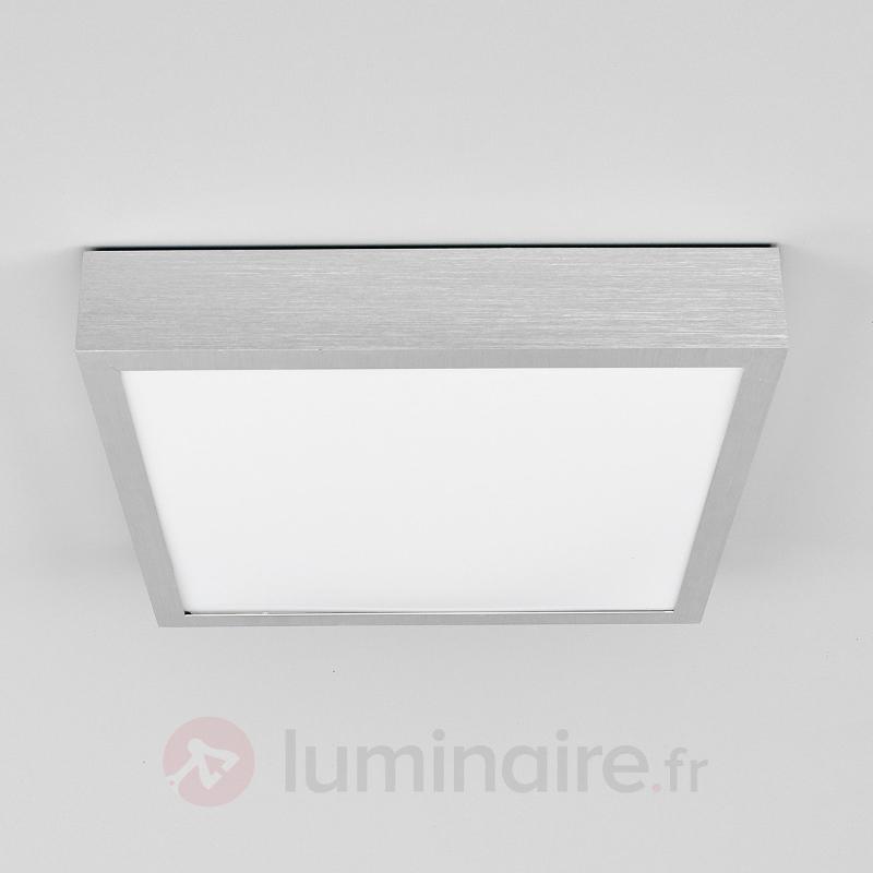 Plafonnier LED Finnian carré en aluminium - Plafonniers LED