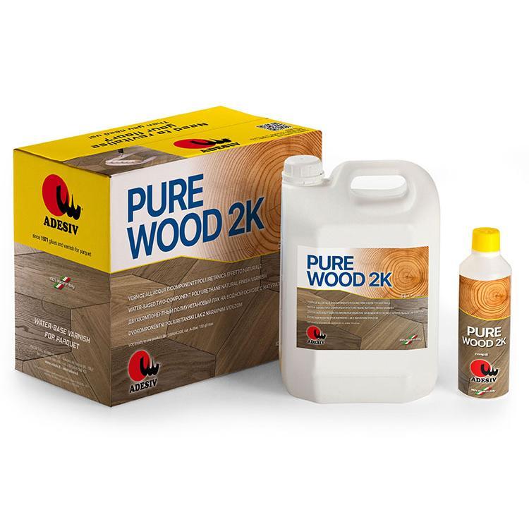 Pure Wood 2k Vernice All'acqua Bicomponente Poliuretanica Effetto Naturale - null