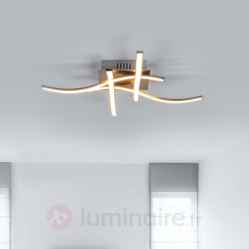 Plafonnier LED Rachel avec finition nickel - Plafonniers LED