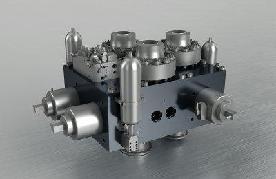 Hydraulikblock - Steuerblock Schmiedepresse (11957 kg)