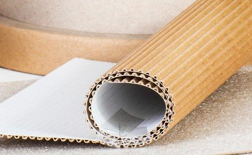 Single faced paper or cardboard - Semi flexible industral packaging, recycled and recyclable