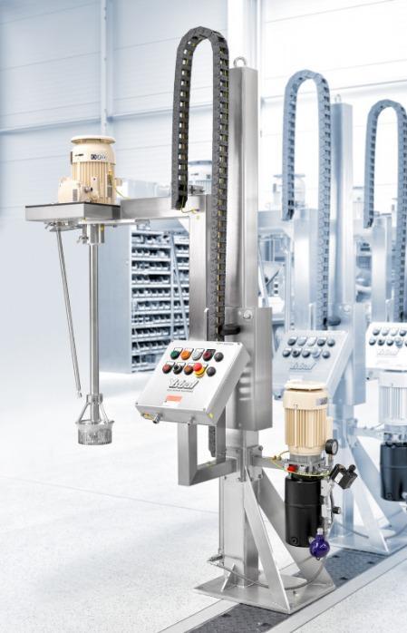 Sistema cambio cilindro YSTRAL Multipurpose - Elevato gradiente di taglio con il principio rotore-statore.