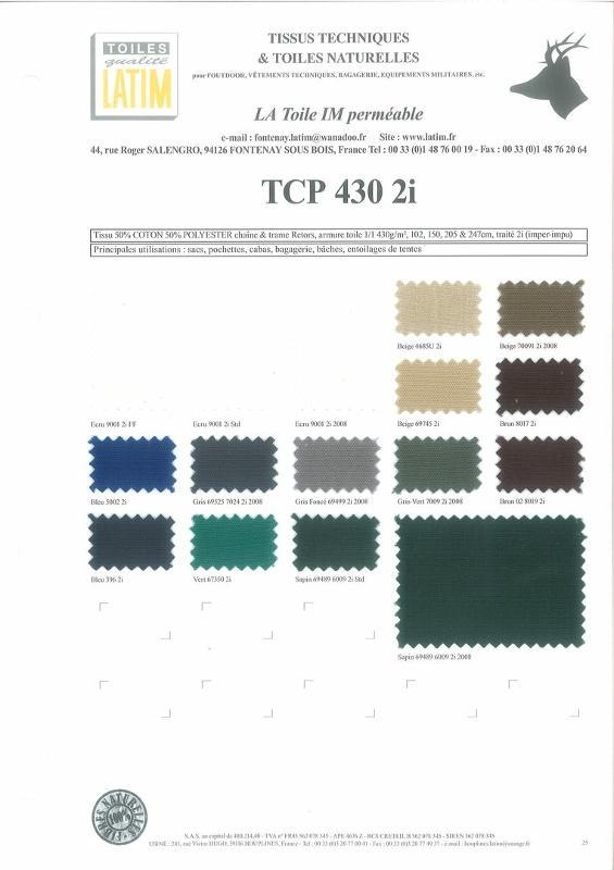 TCP 430 2i - Toiles naturelles