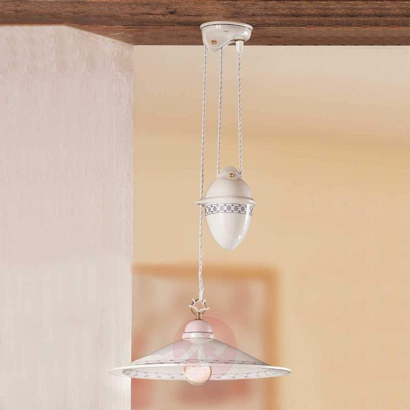 CROCIA hanging light with rise and fall mechanism - Pendant Lighting