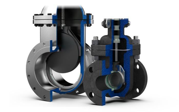 Vanne opercule - Vanne passage directe / Gate valve