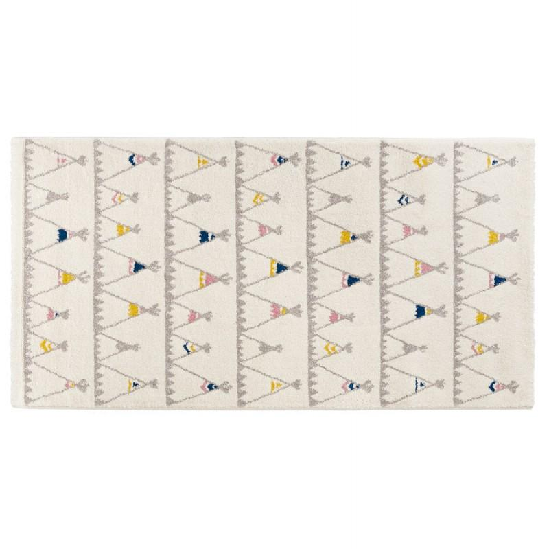 Tapis enfant rectangulaire - 80x150 cm - HARISH (beige) - Vous apprécierez ce tapis pour décorer la chambre de votre enfant.