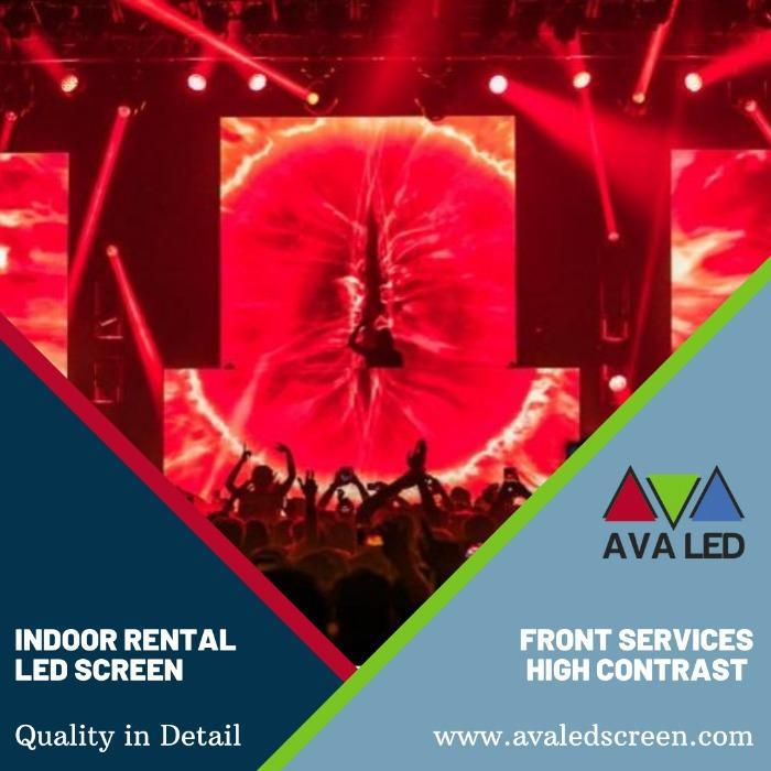 Led zasloni za notranja koncertna območja - P1.95 - P2.6 - P2.97 - P3.91 LED-zasloni AVA za najem