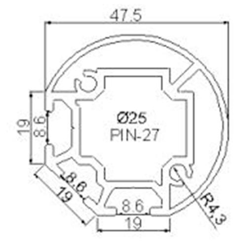 Profilés ROND - RD3-45,5