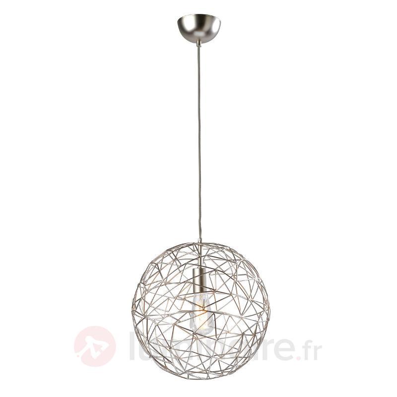 Suspension ronde Cage en métal argenté - Cuisine et salle à manger
