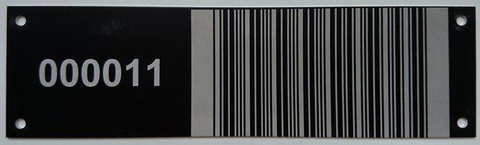 Barcode-Schilder aus Aluminium - null