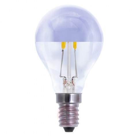 E27 4W LED half mirror bulb warm white dimmable - light-bulbs