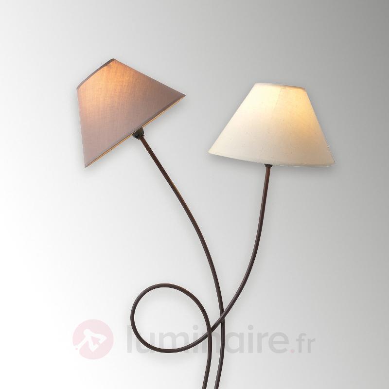Lampadaire tissu Twiddle à deux lampes - Lampadaires en tissu