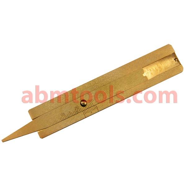 Brass Tyre Profile Depth Gauge