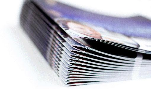 Pieghevoli pubblicitari stampati, cataloghi cuciti, stampa d