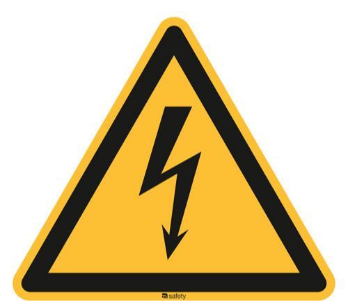 [W008] Warnung vor gefährlicher elektr. Spannung - ASR A1.3 / ISO 7010
