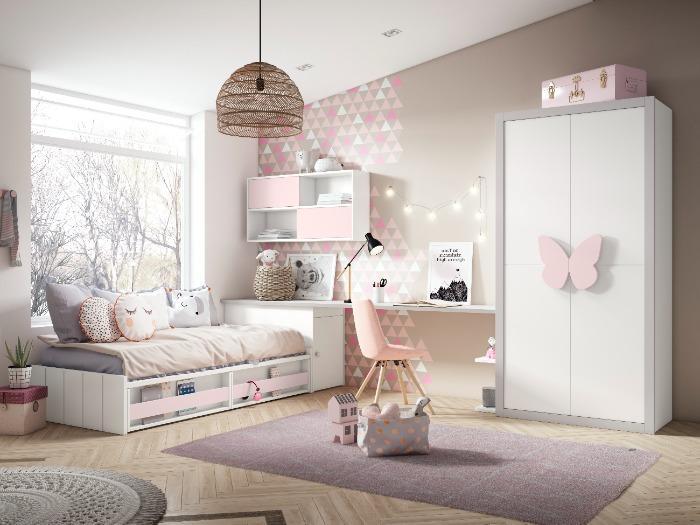 Dormitorio juvenil  de diseño - muebles lacados