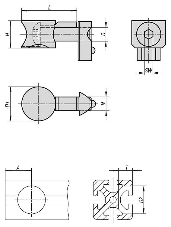 Connecting sets universal Type I - Connectors