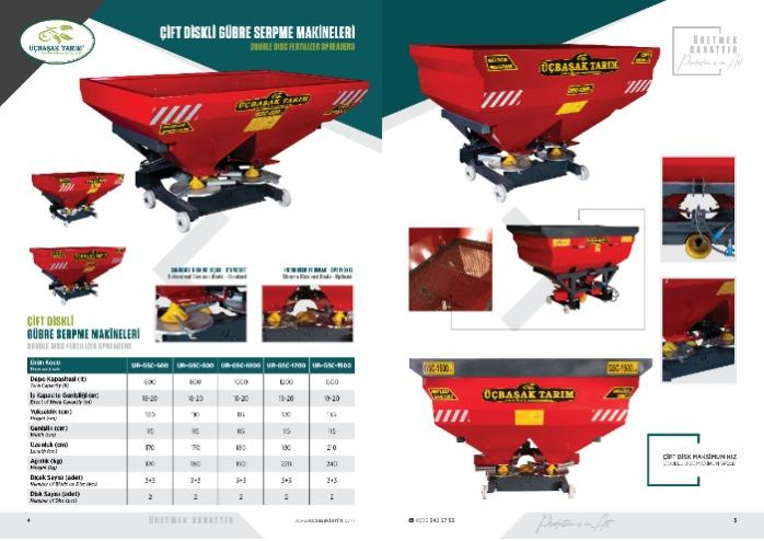 FERTILIZER SPREADER (DOUBLE DISC) - AGRICULTURAL MACHINERY