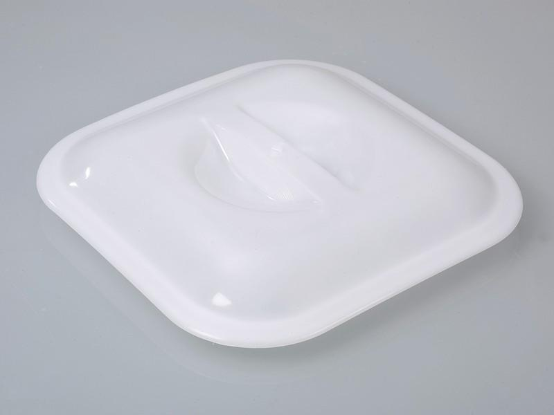 Four-sided bucket - Plastic bucket, PE, transparent, 14 l, available with lid