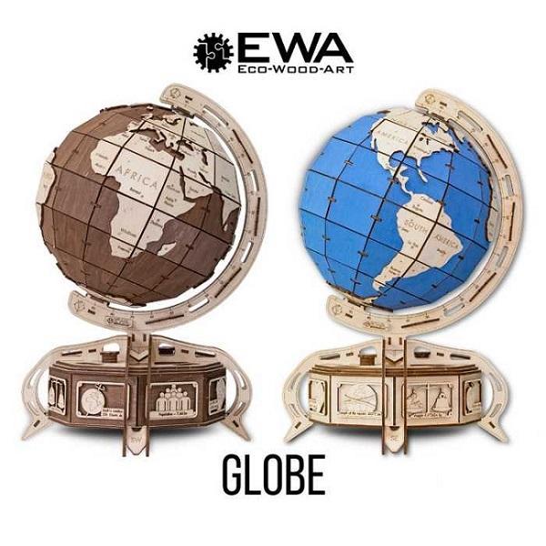 Глобус - Механический 3D конструктор из фанеры