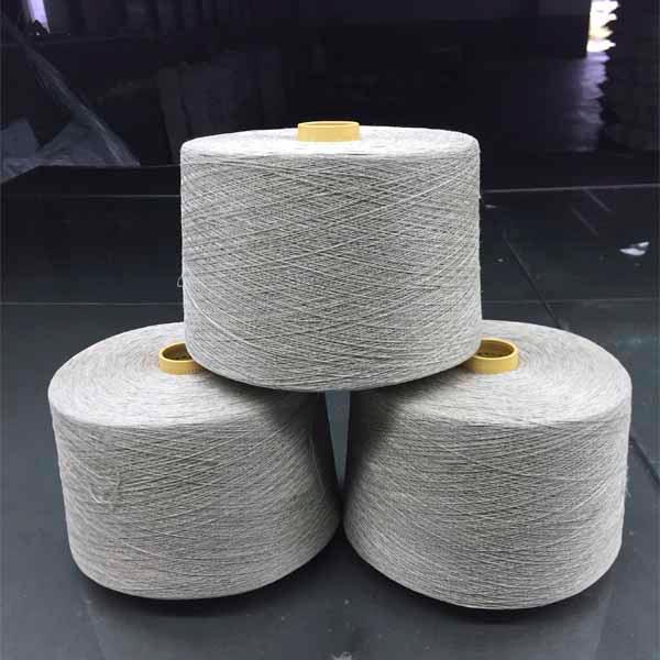 Long hemp gray yarn - 15Nm