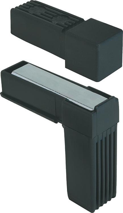 Square tube connectors two-way - K0616