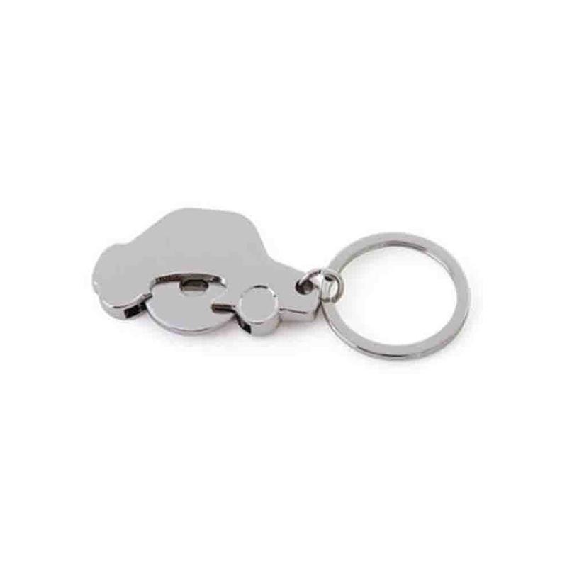 Porte-clés jeton voiture métal brillant - Porte-clés métal