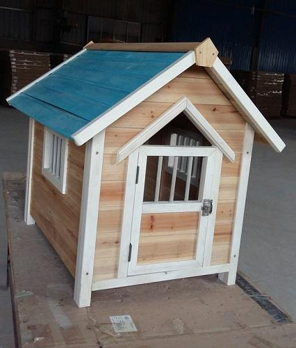 Blue ceiling dog cage - Wooden material