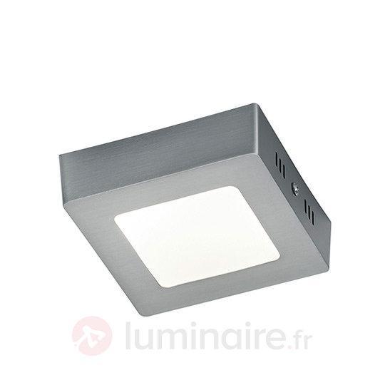 Plafonnier LED Zeus de couleur nickel - Plafonniers chromés/nickel/inox