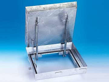 BVH-GD maxi steel galvanised BVEH-GD maxi stainless... - A deep cover for infill with paviors - with assisted opening - smell...