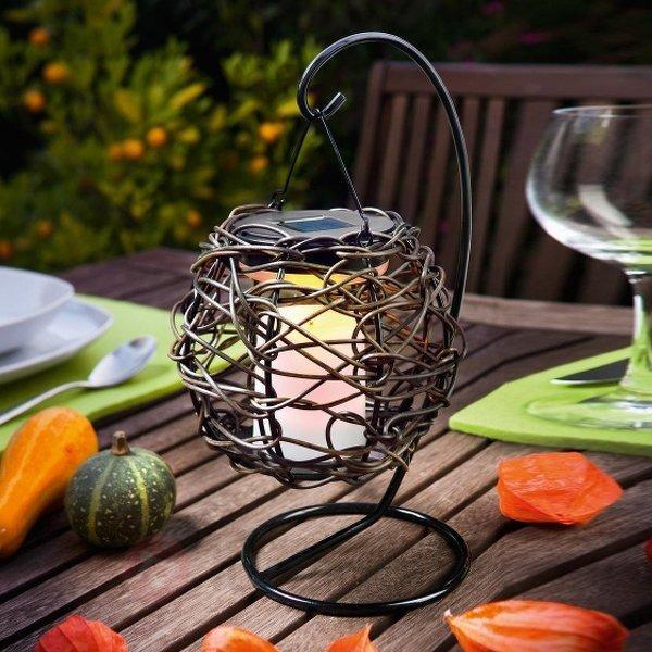- lampe solaire suspendue KORFU avec support - Lampes solaires décoratives