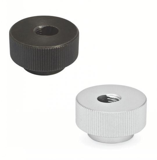 Ecrou moleté - à serrage rapide, acier ou inox