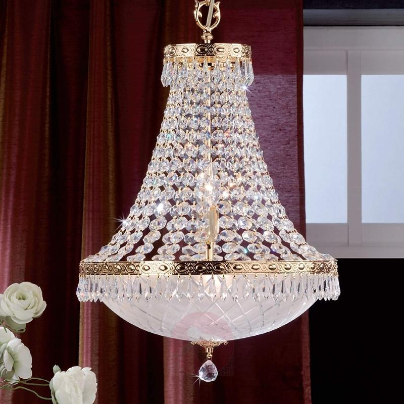 Empire Crystal Chandelier 24 Carat Gold-Plated - design-hotel-lighting
