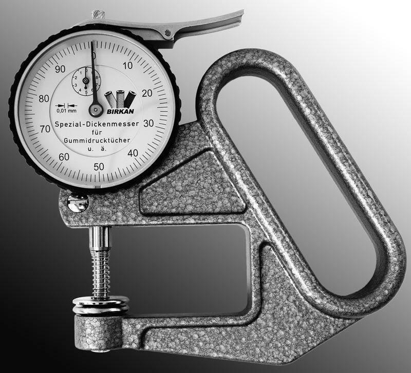 Thickness gauge - Useful tool for the press room