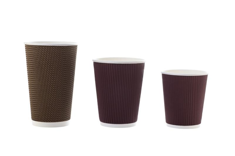 """""""Brown"""" cups for hot beverages - Disposable deep brown cups for hot beverages"""