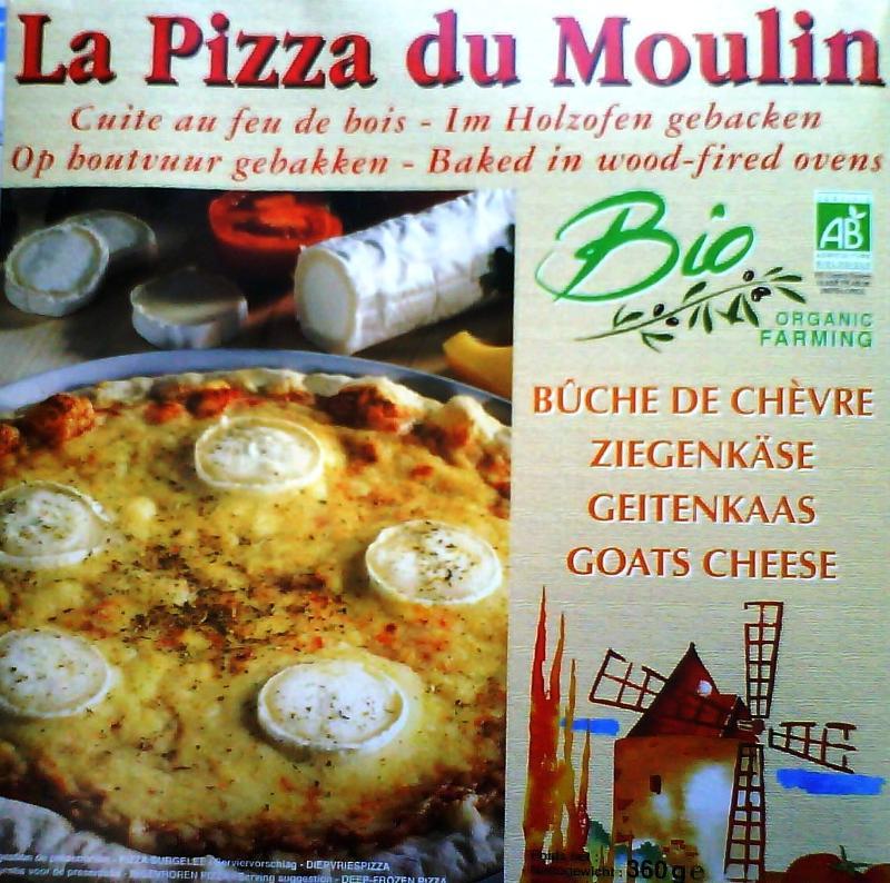Pizza bûche de chèvre - Biologique et surgelée