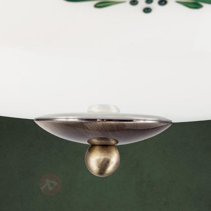 Plafonnier en verre Nilay, diamètre 39 cm - Plafonniers en verre