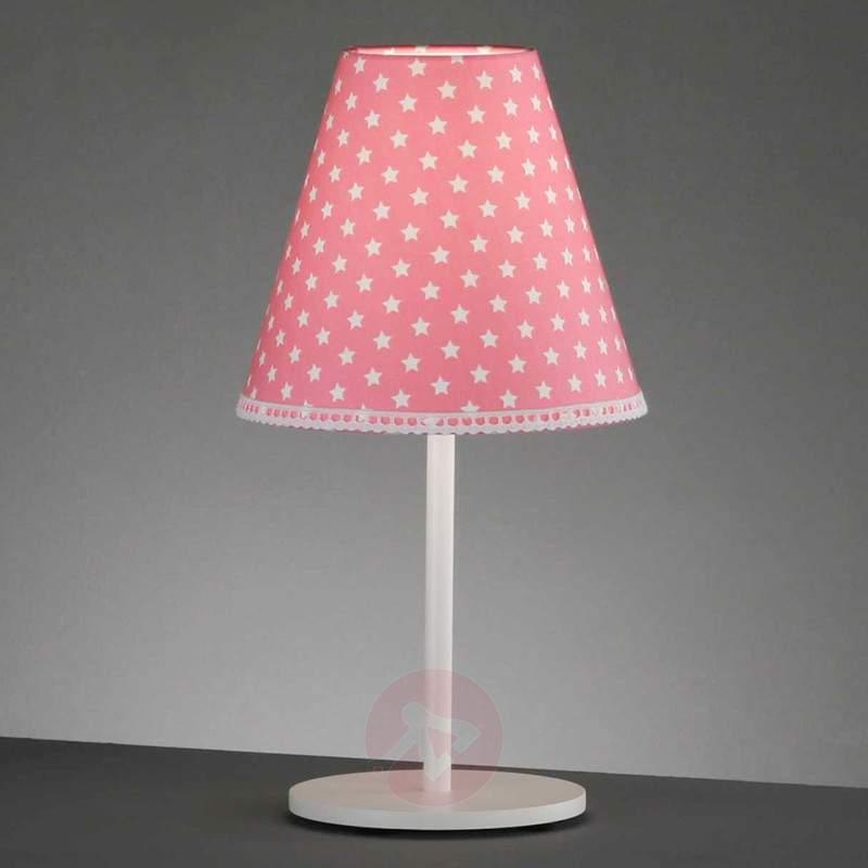 Handmade table lamp Alice with star pattern. - Bedside Lamps