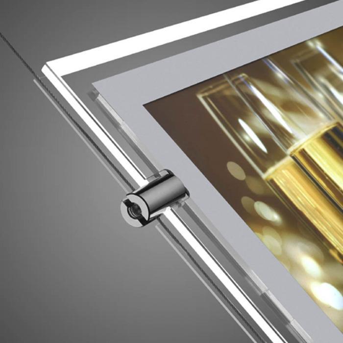 A4 Led-Licht Fenster Display Immobilienmakler Doppelseitig - Magnetische Frontplatte LED-Fensteranzeige