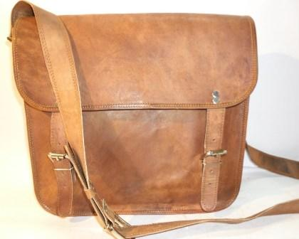 Leather Messenger Bag - Genuine Leather, Standard Size