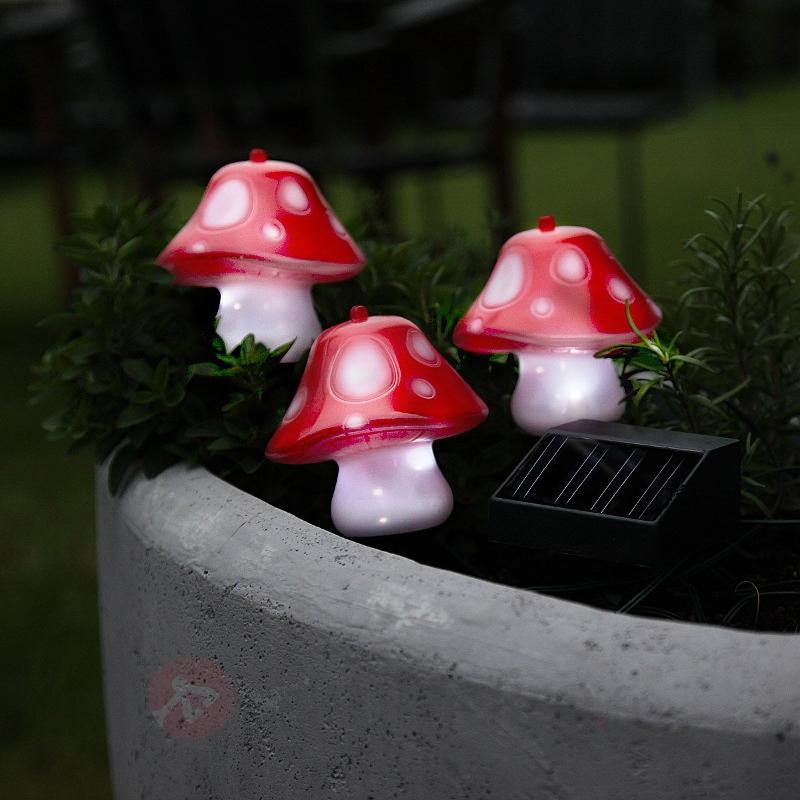 Jolie lampe solaire en forme de champignon - Lampes solaires décoratives