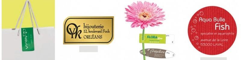 Etiquette autocollante pour boutique - Stickers personnalisé et étiquettes