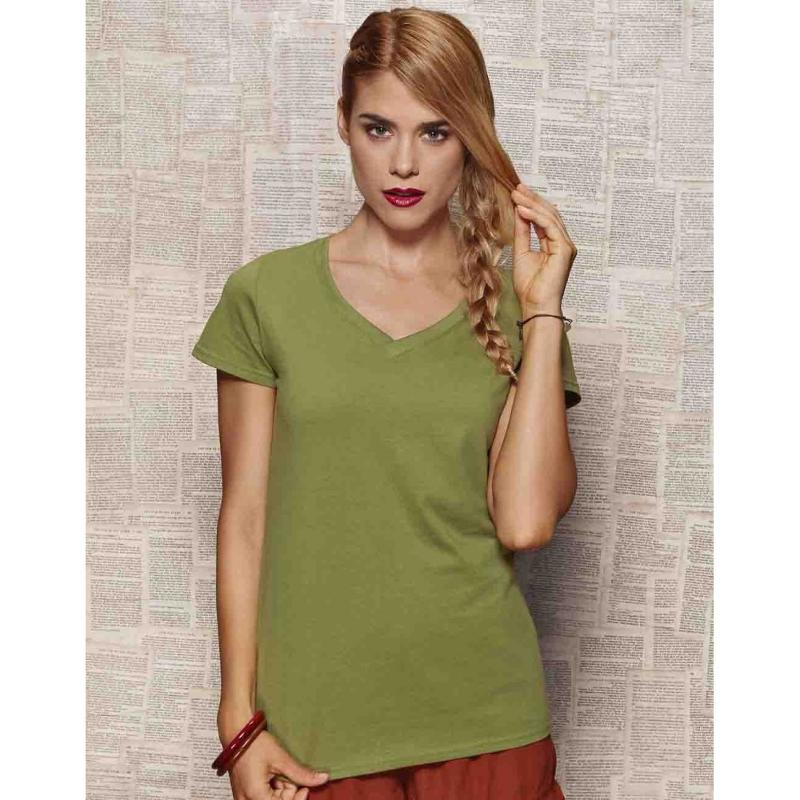 Tee-shirt femme col V Janet - Manches courtes